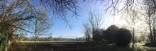 Panorama D'un Matin Brumeux Ensoleillé En Hiver à Barré Briec En Bretagne Finistère Cornouailles France