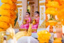 Thai Old Dolls That Someone Make A Votive Offering For Spirit Or Supernatural