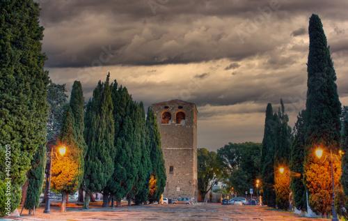 Fototapeta Tower of the St. Giusto basilica, Trieste