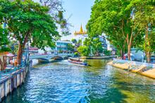 The Passenger Boat On Saen Saep Khlong, Bangkok, Thailand