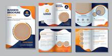 Print Ready Business Company Profile Brochure Design Template.