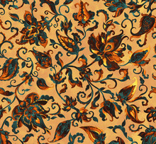 Paisley Watercolor Floral Pattern