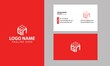 Cube GN logo design. Property and Construction GN Logo design with business card