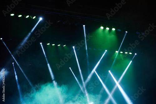 Fotografiet Colorful lights in the venue