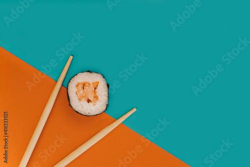 Fototapeta sushi piece japanese oriental  food obraz