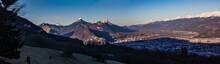 Panorama De La Chartreuse, Mont Blanc Et Belledonne, Panorama Of The Alps
