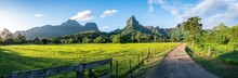 Panoramic View Of Mount Tohiea On The Island Of Moorea, French Polynesia