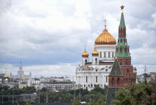 View Of The Cathedral Of Christ The Savior From The Kremlin