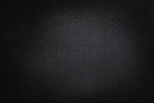 Texture Technical Fabric With Rubber Coating. Black Background.
