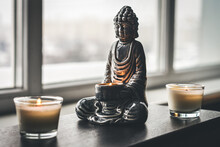Candlestick In The Shape Of A Buddha