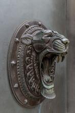 Bronze Tiger Head (doorway In Liverpool, UK)