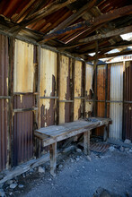 Abandoned Mine Building In Leadfield, Titus Canyon, Death Valley, California
