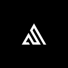 A And S Triangle Letter Logo