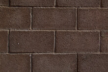 Brown Brick Walls.the Texture Of The Facing Brick As A Background