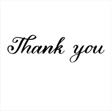 Thank You Hand Lettering Typography Design Illustration For Card Postcard Poster Print