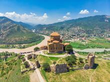 Ancient Jvari Monastery In Mtskheta, Georgia