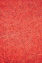 Texture Of Orange Artificial Leather. Imitation Leather
