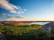 Elevated Reservoir Of Dlouhe Strane Hydro Power Plant In Jeseniky Mountains In Czech Republic