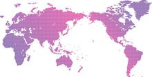 ドット世界地図素材