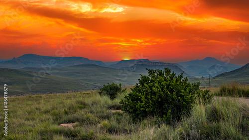 Canvas Print Drakensberg mountains, Royal Natal National Park, South Africa