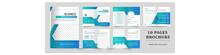 Business Brochure Template, Set Of Brochure, Business Flyer, 10 Page Business Brochure.