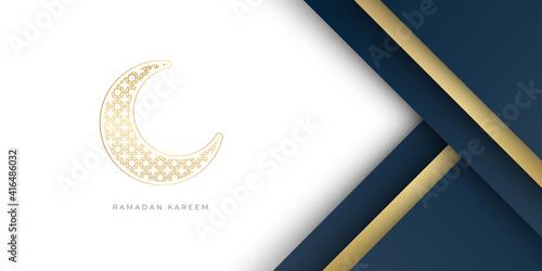 Carta da parati ramadan kareem islamic greeting card background vector illustration