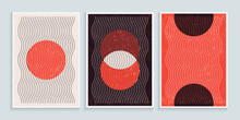Trendy Contemporary Wall Art With Primitive Shapes Elements