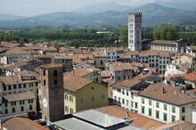 Lucca. Vista Della Città Con Campanili Dalla Torre Guinici