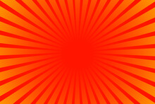 Red Sunburst Background. Sunburst Background Orange Colors. Abstract Sunlight Background. Cartoon Background.