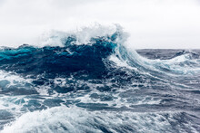 High Westerly Winds Build Large Waves In The Drake Passage, Antarctica, Polar Regions