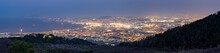 Panoramic Of Naples City Lights And Gulf At Dusk From Vesuvius, Naples, Campania, Italy, Europe