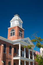 Victorian Brick-built Clock Tower Of The Monroe County Court House, Old Town, Key West, Florida Keys, Florida, United States Of America, North America