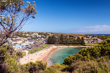 View Of Port Campbell And Beach, Great Ocean Road, Victoria, Australia, Pacific