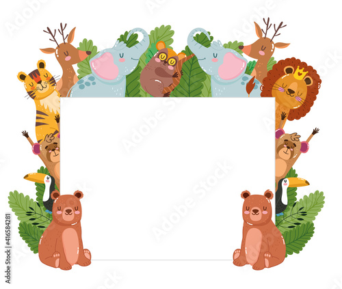 Fototapeta premium Animals nature banner