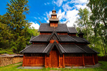 Private Build Stavechurch In Beiarn, Nordland, Norway, Europe