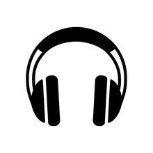 Headphones Vector Glyph Icon. Music Sign
