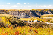 Fall Comes To Horse Thief Canyon. Starland County, Alberta, Canada