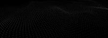 Abstract Digital Wave Of Particles. 3d Futuristic Background Illustration. Digital Background. Vector Illustration
