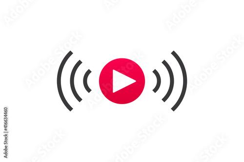 Live streaming icon Fototapeta