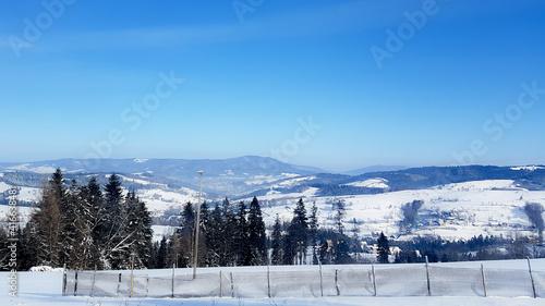 Fototapeta Panorama górska zimą obraz