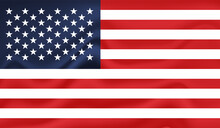 American Flag. Grunge Old Flag USA Isolated White Background.