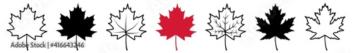 Fotografia Maple Leaf Icon Canada Maple Leaf Set   Maple Leaves Icon Canadian Vector Illust