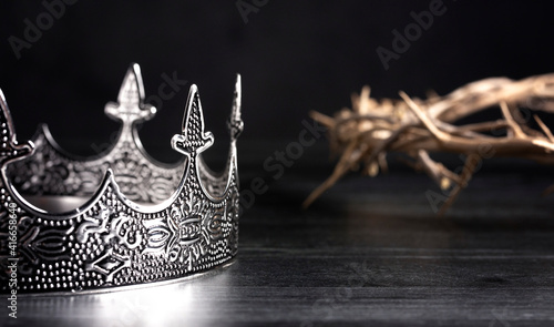 Fotografering Kings Crown and the Crown of Thorns