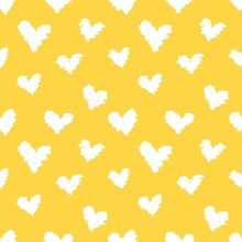 Yellow Heart Pattern Paper Digital Paper Scrapbooking Paper For Fabric Pattern For Textile Pattern For Baby Clothes Baby Pattern