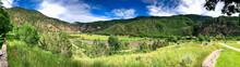 Bike Trail Along The Beautiful Colorado River, Utah - Panoramic View