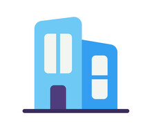 Office Building Working Space Single Isolated Icon With Flat Style