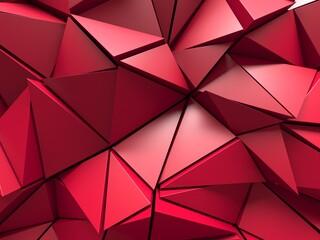 Triangle Poligon Red Abstract futuristic Background