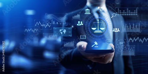 Labor law Lawyer Legal Advice Business Finance Concept. Wallpaper Mural