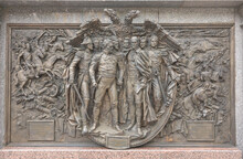 Bas-reliefs At The Monument To Alexander 1 In The Alexander Garden