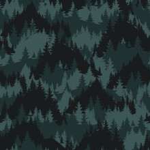 Abstract Camouflage Pattern With Mountain. Hand-drawn Print For Textiles, Sportswear, Wrapping Paper And More